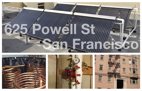 Apricus Installs system on Powell Street Apartment Building in San Francisco